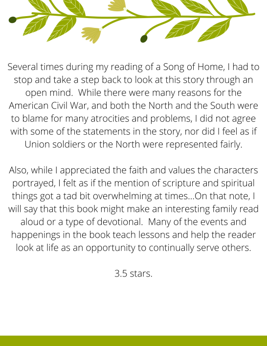 Page 2 of My Review for A Song of Home - Ryana Lynn Miller